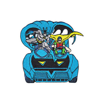 Batman Robin Batmobile Iron-On Patch