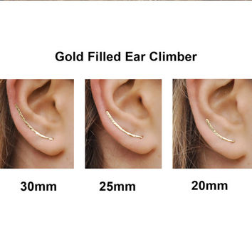 Ear Climbers Earrings, Ear Climber, Gold Ear Pins, Climber Earrings, Ear Crawlers, Earrings Pin, Gold Earrings, Earring Pins