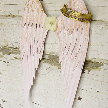 Angel Wings Wall Decor,Metal Angel Wings,Girls Nursery Decor,Angel Wall Decor,Angel Wings,Baby Girl Nursery,Girls Room Decor,Angel Decor