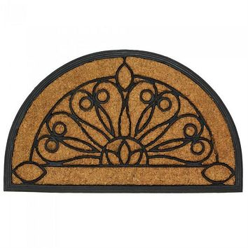 Half Moon Coir and Rubber Entry Mat