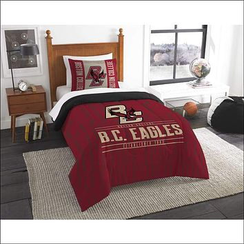 """Boston College OFFICIAL Collegiate, Bedding, """"""""Modern Take"""""""" Twin Printed Comforter (64""""""""x 86"""""""") & 1 Sham (24""""""""x 30"""""""") Set  by The Northwest Company"""