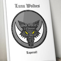 Luna Wolves Pre-Heresy, Warhammer 40K- Printable Poster - Digital Art - Download and Print