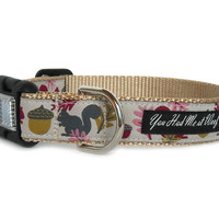 Chipmunk Jubilee Fall Dog Collar - Can be Personalized