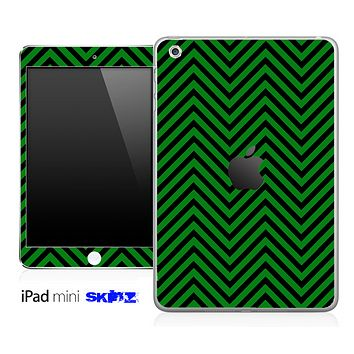 Green/Black Sharp Chevron Pattern Skin for the iPad Mini or Other iPad Versions