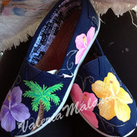 Bright tropical TOMS shoes