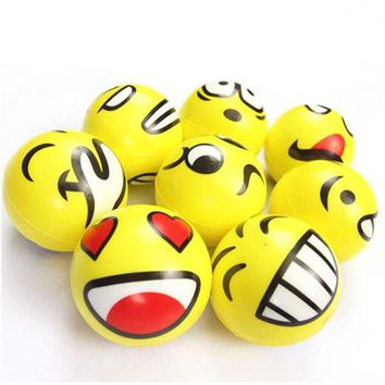 Hot Sale Squeeze Relief Hand Massage Relaxation Ball Smiley Face Anti Stress Reliever Ball ADHD Autism Mood Toy