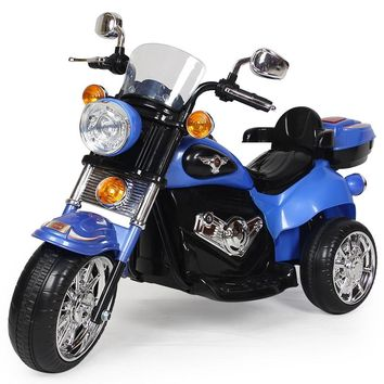 Hot Selling Children Music Kids Can Drive By Pedal Sit Three Wheel Electric Toy Car Power Motorcycle