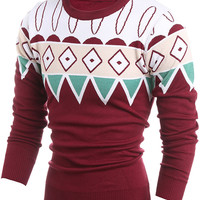Geo Knit Slim Fit Pullover Sweater
