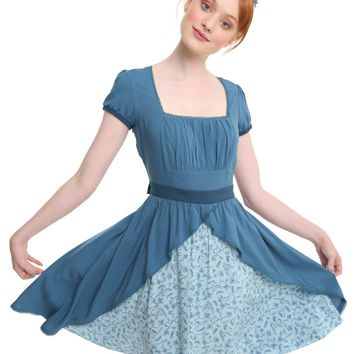 Licensed cool Over The Garden Wall Beatrice Dress Cosplay Blue Floral Cartoon Network JRS XS-L