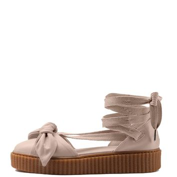 puma fenty bow creeper sandal tan