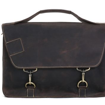 BLUESEBE MEN VINTAGE GENUINE LEATHER MESSENGER BAG/SATCHEL 9081