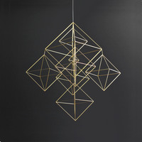 Large Himmeli No. 2 / Modern Hanging Mobile / Geometric Art Sculpture / Minimalist Home Decor