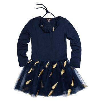 Imoga Girls' SAMANTHA Necklace Feather Dress