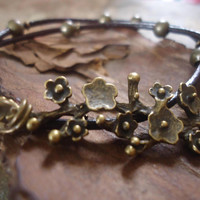 BRONZE BRANCH Leather Wrap Bracelet & branch by AsaiBolivien 10,9 $