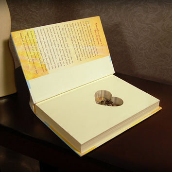 Hollow Book Safe with Heart (Meant to Be)
