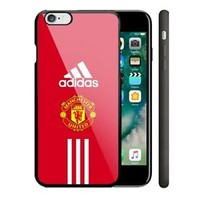 Adidas Manchester United iPhone 4/4s 5/5s 5c 6/6s 7/7s Plus Hard Plastic Case