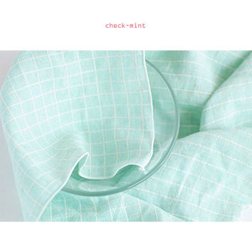 Livework Check pattern cotton handkerchief hankie
