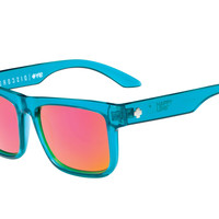 Spy - Discord Trans Teal Sunglasses, Happy Grey Green W/ Pink Spectra Lenses