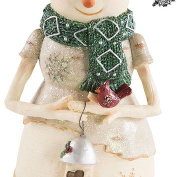 Home for the holidays Snowman Holding Lantern Figurine