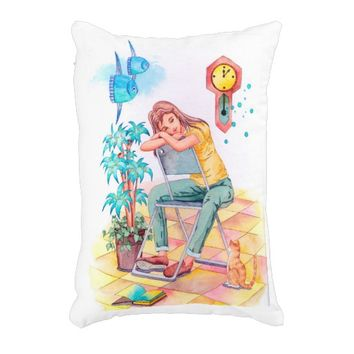 Rest time accent pillow