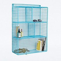 Cage Storage Rack in Turquoise - Urban Outfitters