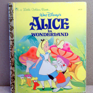 Vintage Children's Book - Disney's Alice in Wonderland Little Golden Book