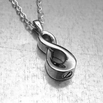 Cremation Necklace, Infinity Urn, Urn Locket, Ashes Holder Necklace, Cremation Locket, Memory Locket, Cremation Jewelry