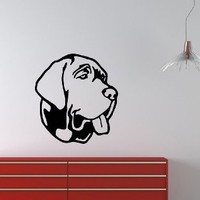 Housewares Wall Vinyl Decal Neopolitan Mastiff Cute Dog Animal Pet Shop Home Art Decor Kids Nursery Removable Stylish Sticker Mural Unique Design for Any Room