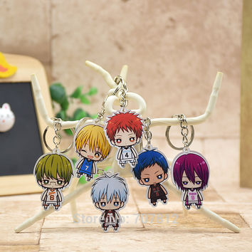 Kuroko no Basket acrylic Keychain Pendant Car Key Chain Key Accessories Cute Japanese Cartoon Collection LTX1