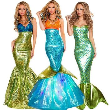 Hot Sale Women Mermaid Costume Halloween Cosplay Mermaid Dress Romantic Beauty Sea Maid Sexy Dress Women Mermaid Fancy Dress