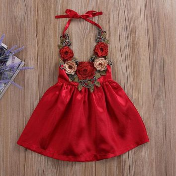 Toddler Kids Baby Girls Flowers Party Dress Formal Dresses Clothes Summer 6M-5T