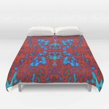 Psychedelic kaleidoscope pattern Duvet Cover by Steve Ball