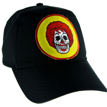 Ronald McDonald Skull Hat Baseball Cap Alternative Clothing Americana Fast Food Culture