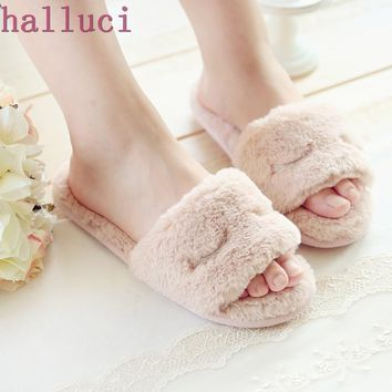 Cute Winter Home Slippers Women's House Shoes For Indoor Bedroom House Warm Cotton Shoes Adult