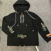 ca spbest Heron Preston  New 24 Hour Psycho Half Zip Jacket