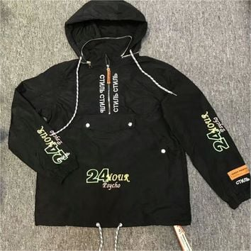 ca auguau Heron Preston  New 24 Hour Psycho Half Zip Jacket
