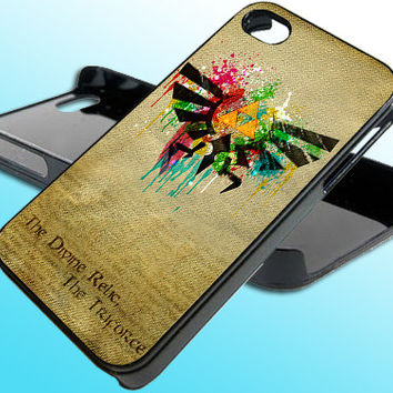 Zelda Hylian Paint Splatter for iPhone 4/4s Case - iPhone 5 Case - Samsung S3 - Samsung S4 - Black - White (Option Please)