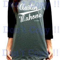 Austin Mahone Since 2011 Old School Unisex Men Women Gray Long Sleeve Baseball Shirt Tshirt Jersey