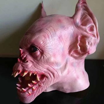 Halloween Scary Mask Horror Devils Cosplays Tattoo Teeth Latex Mask Halloween Adults Costume Party Masks S3