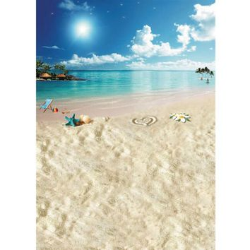 5x7ft Beach Sea Sunshine Sky Vinyl Photography Background For Studio Photo Props Photographic Backdrops 1.5mX2.1m