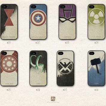 iPhone 5 hard case the Avengers and Loki /choose by FeerieDoll