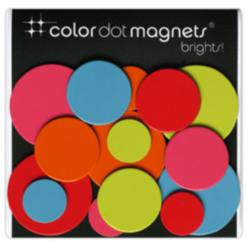 Color Dot Magnets- Bright