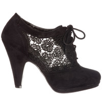 Noir Lovely in Lace Oxford Bootie