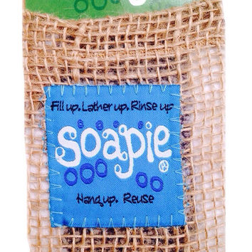 Soap Pouch/Natural Burlap & Jute Soapie/Soapie Shoppe Haywood Mall