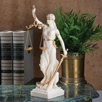 Themis, Goddess of Justice Marble Sculpture - WU71832 - Design Toscano