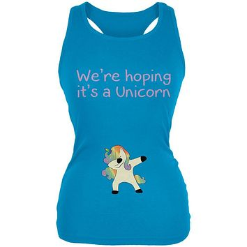 We're Hoping It's A Dabbing Unicorn Juniors Soft Tank Top