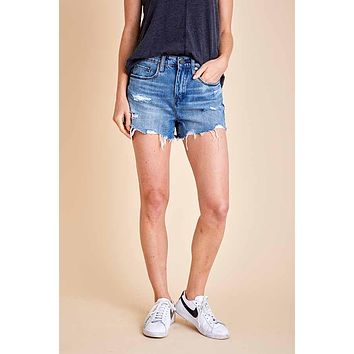 Blank Barrow High Rise Cut Off Shorts