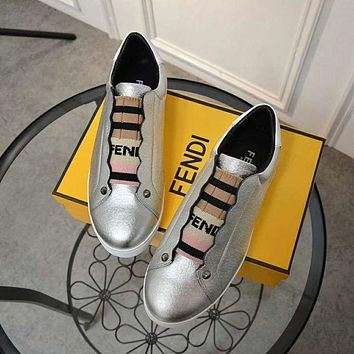 Fendi leather leisure sports shoes