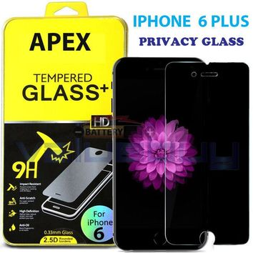 "Anti-Spy Peeping Privacy Tempered Glass Screen Protector for iPhone 6 Plus 5.5"" 635909324881"