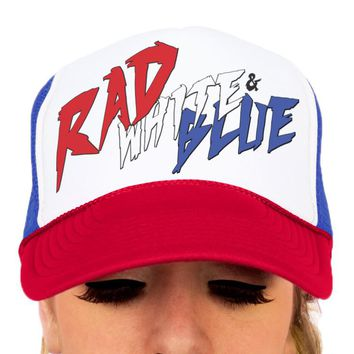 4th of July Hat - Rad White & Blue
